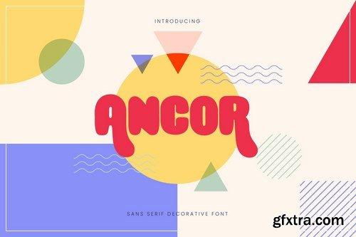 Ancor - Bold Fun Sans Serif Font
