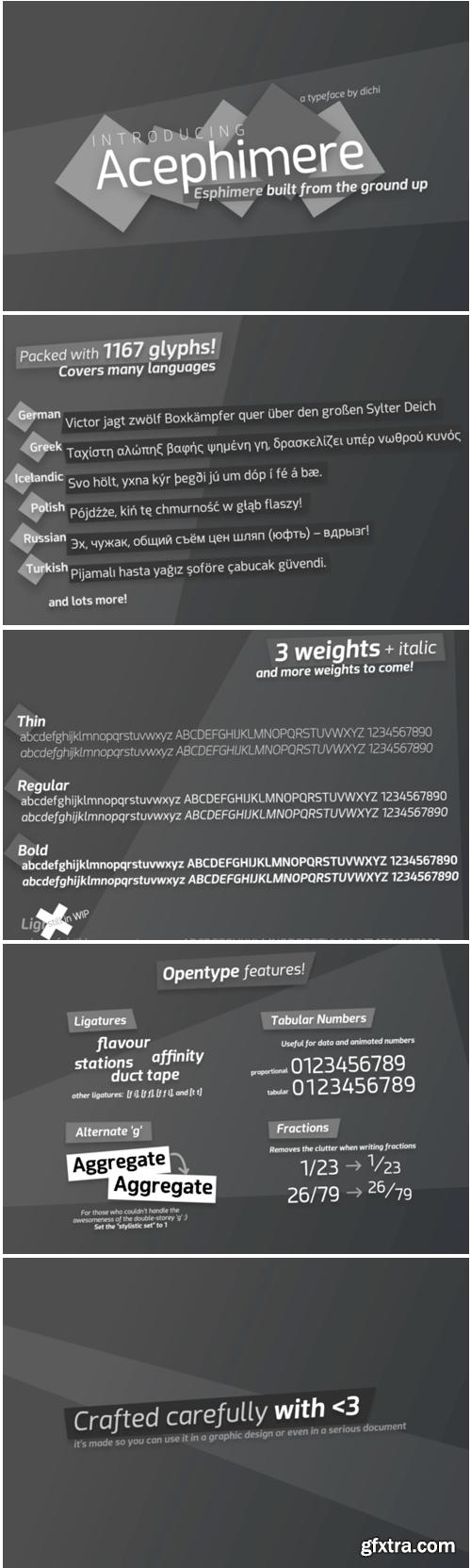 Acephimere Font