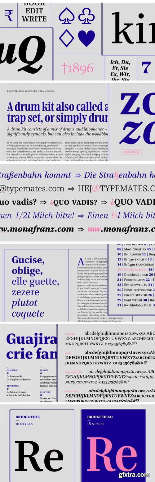 Bridge Text Font Family