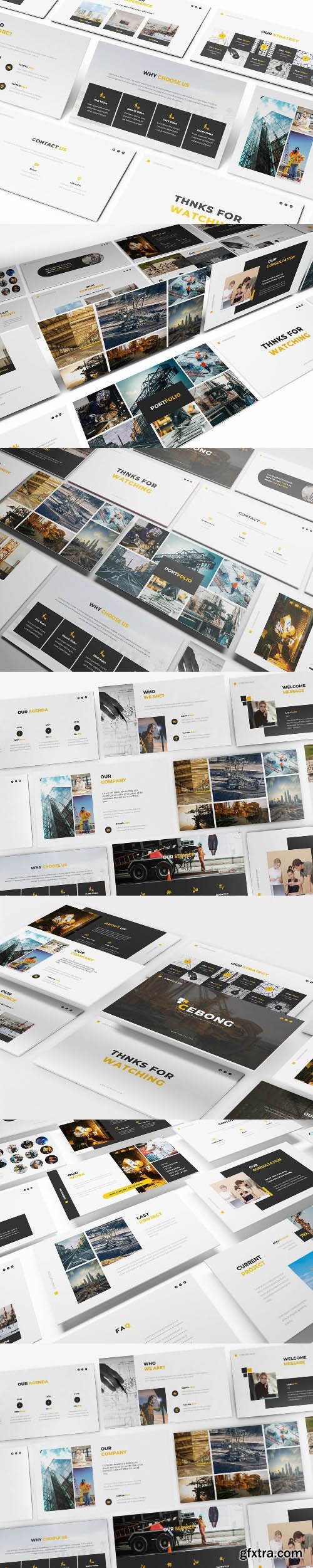 Construction Powerpoint, Keynote and Google Slides Templates