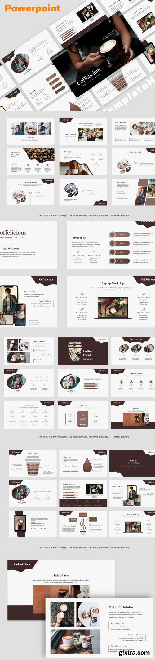 Coffelicious Powerpoint, Keynote and Google Slides Templates