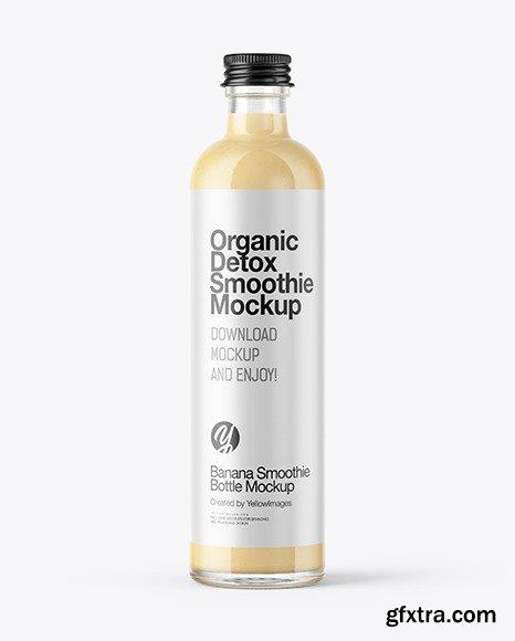 Banana Smoothie Bottle Mockup 48838