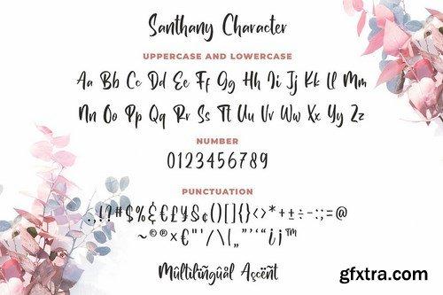Santhany - Handwritten Typeface