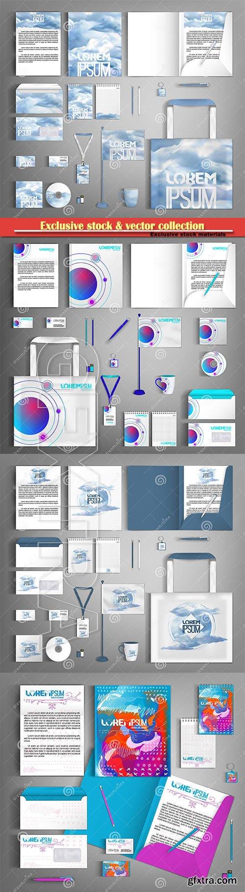Vector design set of corporate identity