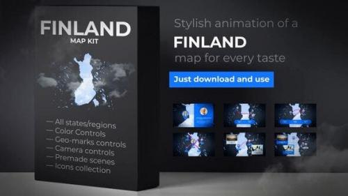 Udemy - Finland Map - Republic of Finland Map Kit
