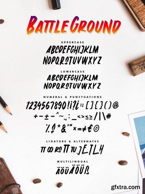 Battleground - Casual Font
