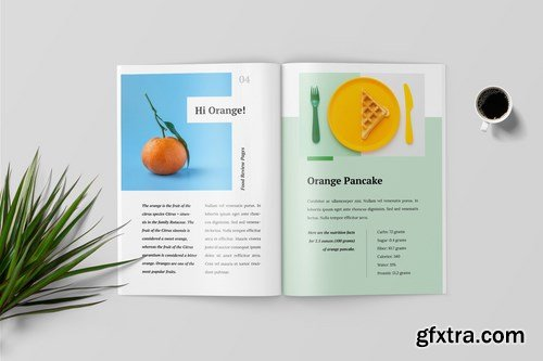Cooking Book Magazine Template