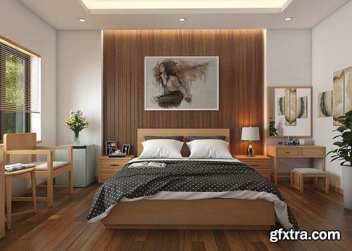 Modern Bedroom Interior Scene 49