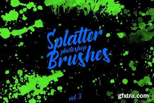 Splatter Stamp Photoshop Brushes Vol. 3