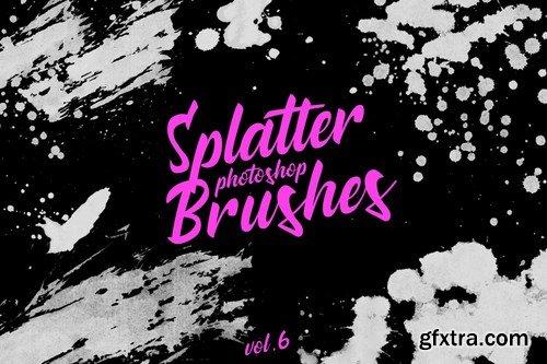 Splatter Stamp Photoshop Brushes Vol. 6