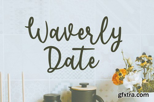 Waverly Date Font