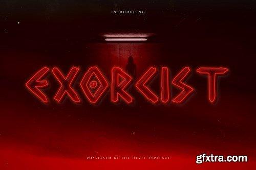 Exorcist - Horror Display Typeface