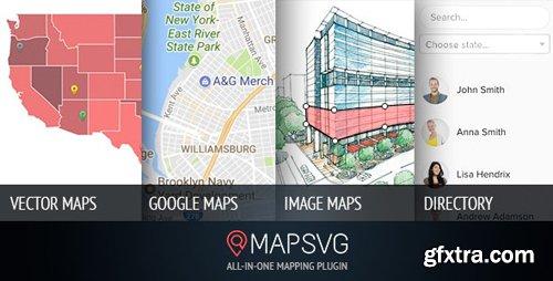 CodeCanyon - MapSVG v5.8.2 - the last WordPress map plugin you'll ever need: Interactive Vector / Image / Google Maps - 2547255