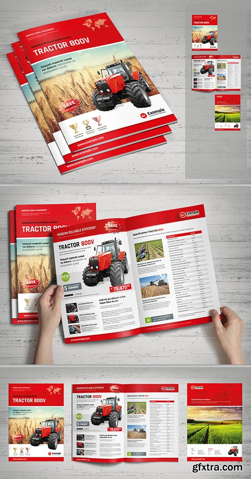 Red and White Product Brochure 288739700