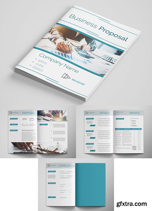 Business Proposal Layout with Teal Accents 285717676