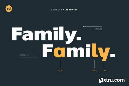Ponder Font Family