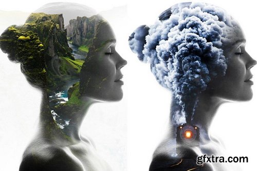DesignBundles - Double Exposure V2 Photoshop Action - 229619