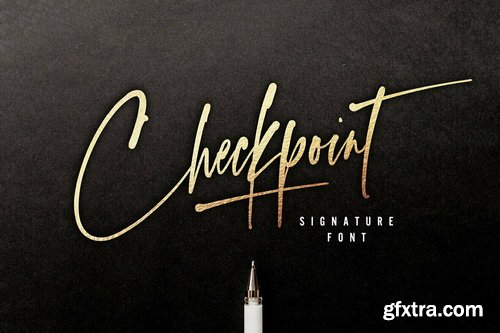 Checkpoint Signature Font Family