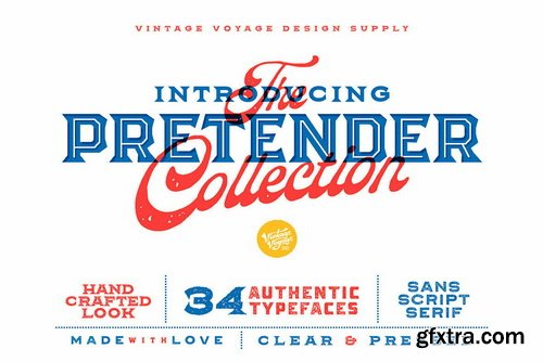 The Pretender Collection Font Family