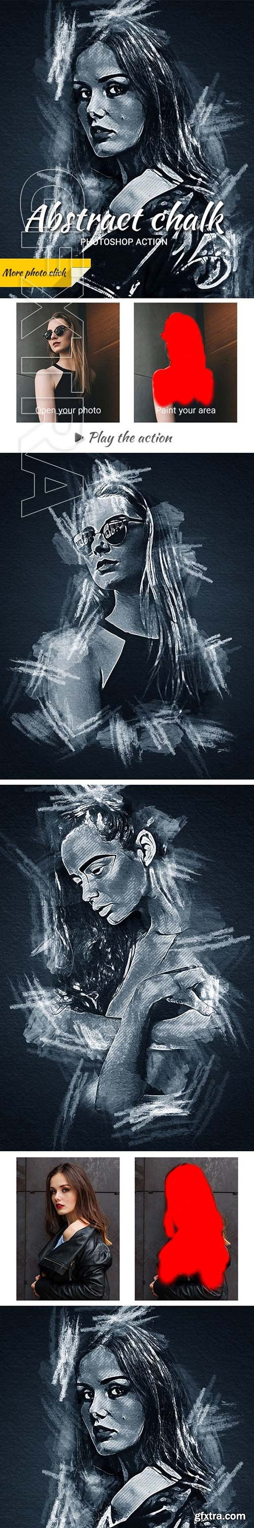 GraphicRiver - Abstract Chalk Photoshop Action 24462245