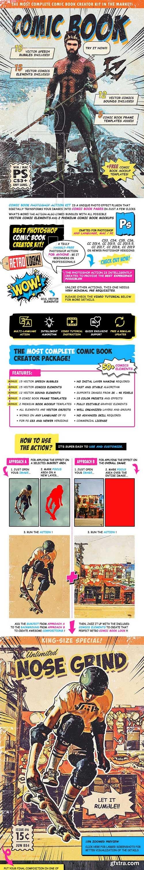 GraphicRiver - Retro Comic Book Photoshop Action Kit 24379894