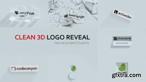 VideoHive Clean 3d Logo Reveal 12920540