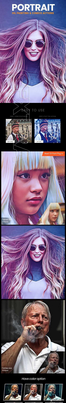 GraphicRiver - Portrait Oil Painting & Comics Action 24472363