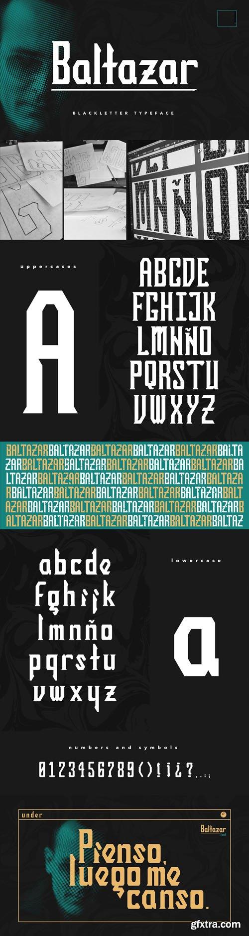 BALTAZAR Blackletter Typeface