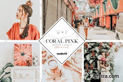 CreativeMarket - Coral pink lightroom preset 4007624