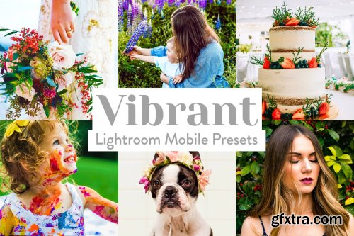 CreativeMarket - Vibrant Lightroom Presets Mobile 4026024