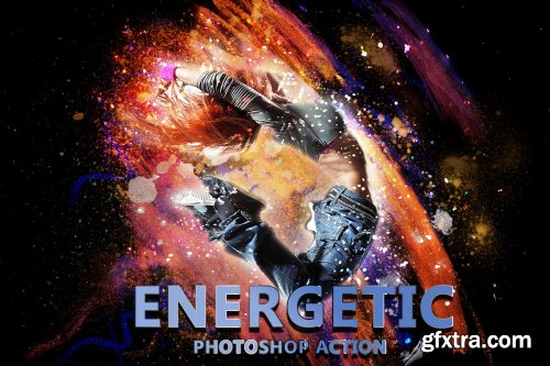 CreativeMarket - 4 in 1 Abstract Art Photoshop Action 4046990