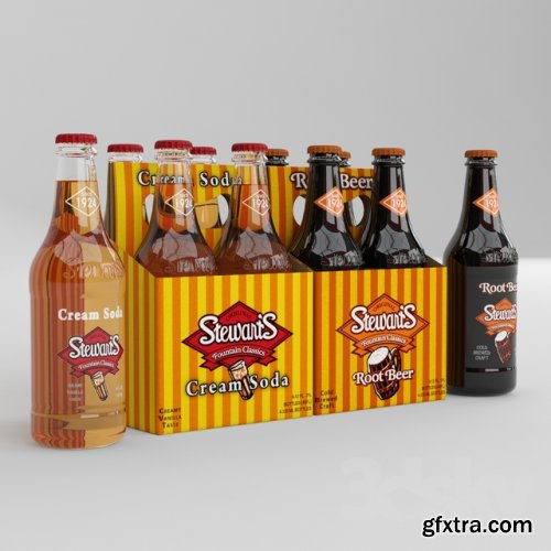 Gas water + beer Stewarts 3D Models