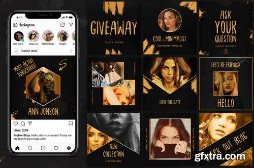 Black & Gold - Instagram Pack