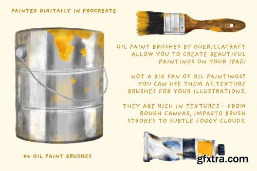 CreativeMarket - Oil Paint Brushes for Procreate 3514016