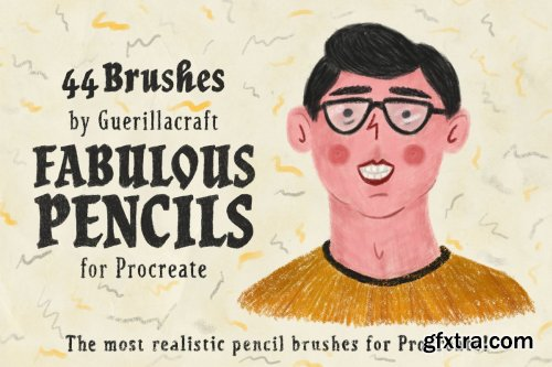 CreativeMarket - Fabulous Pencils for Procreate 3464978