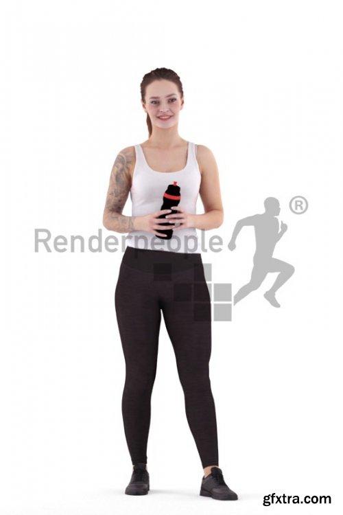 Fabienne Posed 011 3d Model