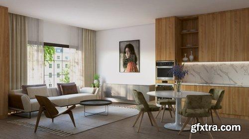 Interior Livingroom Sketchup Scene By Phong Linh
