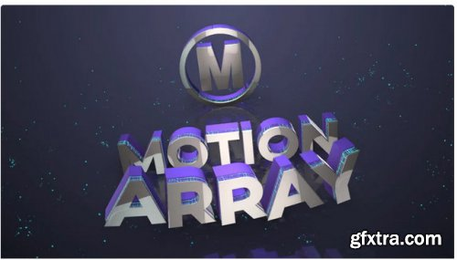 3D Logo & Tagline With Particles - After Effects 283717