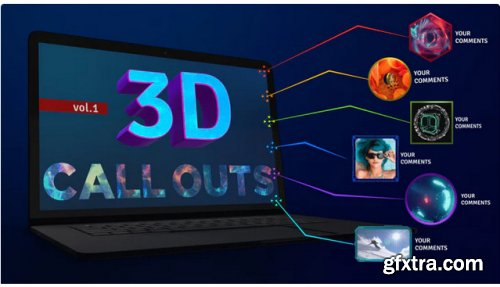Call Outs 3D Vol 1 - After Effects 281222