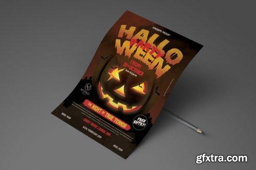 CreativeMarket - Halloween Party Flyer 4096445