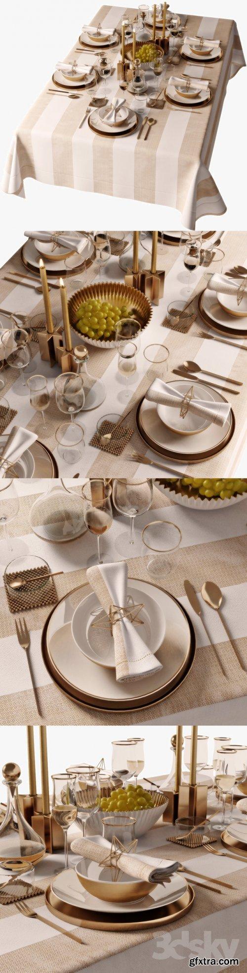 Table setting 05  3d model