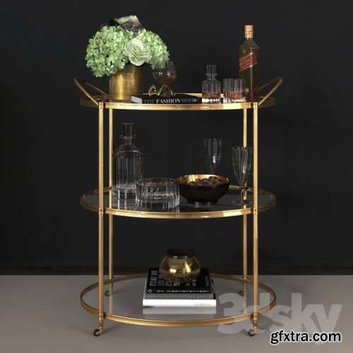 Arteriors - Connaught Bar Trolley