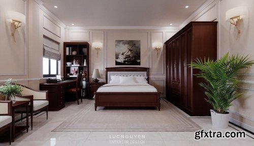 3D Interior Scenes Bedroom by LucNguyen