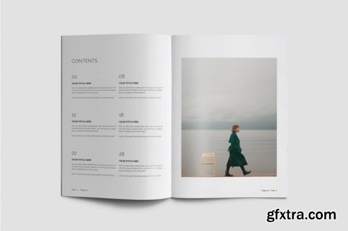 CreativeMarket - A5 Magazine Template 4075498