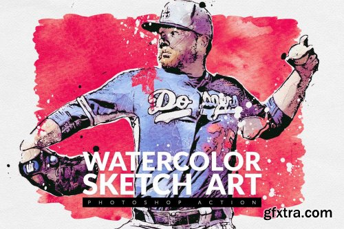 CreativeMarket - Watercolor Sketch Art 4091950