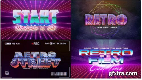 Retro Wave Logo Pack 3 - After Effects 284206