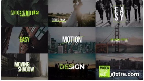 Modern Titles Pack VIII - After Effects 282501