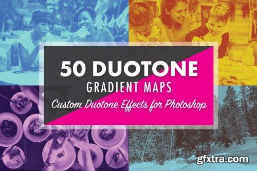 CreativeMarket - 50 Duotone Gradient Maps 4107832