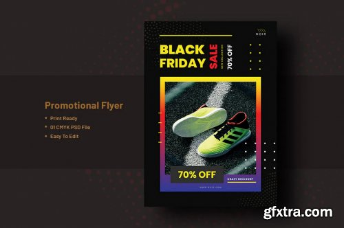 Black Friday Flyer Template V-7