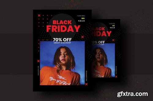 Black Friday Flyer Template V-6